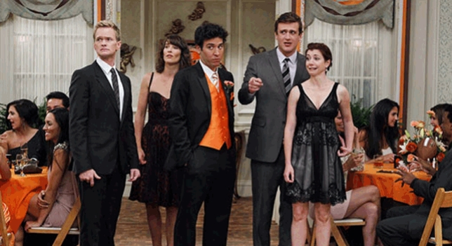 Barney, Robin, Ted, Marshall, Lily.