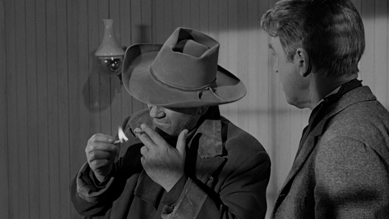 """John Wayne en """"El hombre que mató a Liberty Valance."""