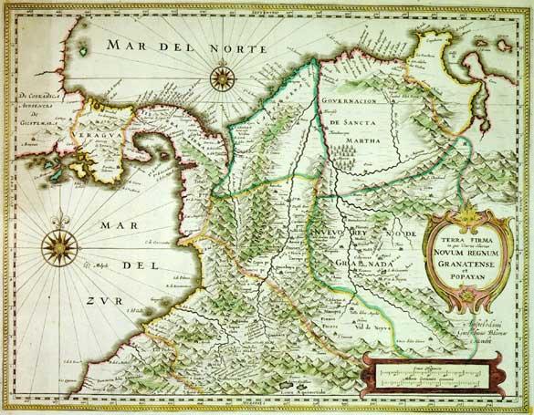 Reino de la Nueva Granada, aún sin Canal. Cuando la mercancía cruzaba en burro.