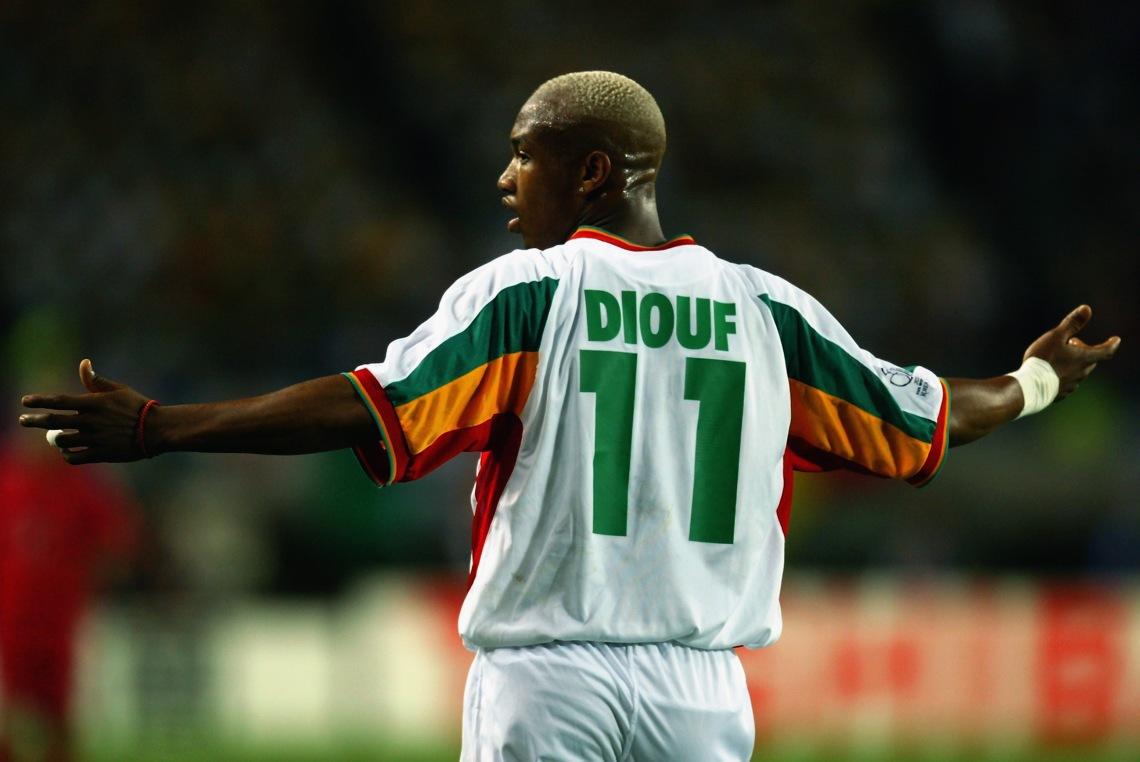 El Hadji Diouf fue la figura de Senegal en el Mundial de 2002, en el que su país se convirtió en el primer africano en llegar a Cuartos de Final de una Copa del Mundo.