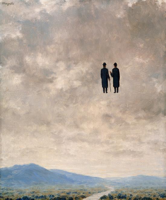 René Magritte, El arte de la conversación, 1963. Óleo sobre lienzo. Diego Duque. Colección Particular.©VEGAP, Madrid, 2013.