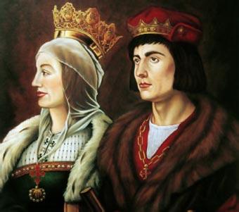 Isabel y Fernando, los Reyes Católicos (óleo de Francis De Blas) Foto: biografíasyvida.com.