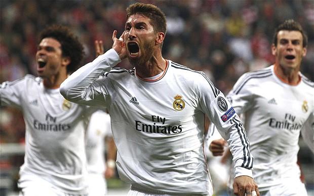 Sergio Ramos celebrando su primer gol de la noche. (Foto: telegraph.co.uk)
