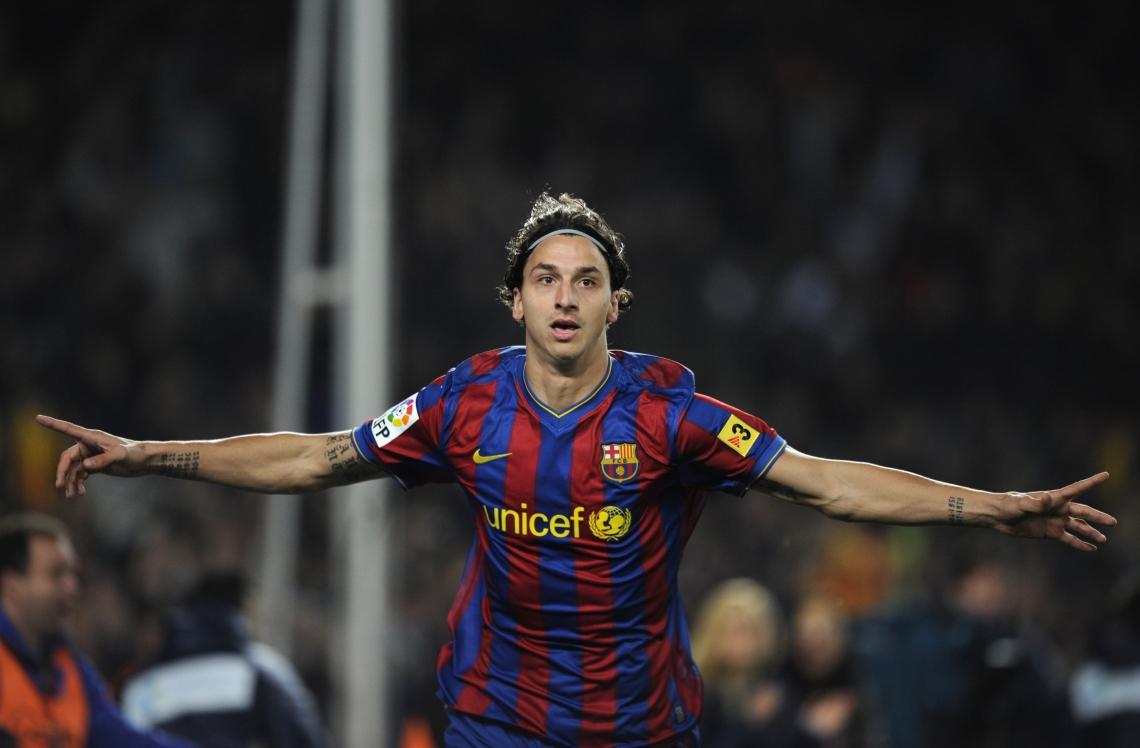 Zlatan no terminó de cuajar en Barcelona. (Foto: goal.com)