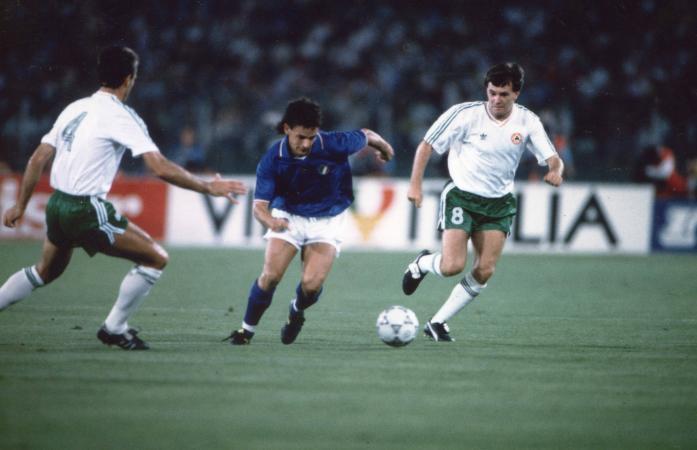 Roberto Baggio, con la Nazionale, en el Mundial de Italia '90. (Foto: vivoazzurro.it)