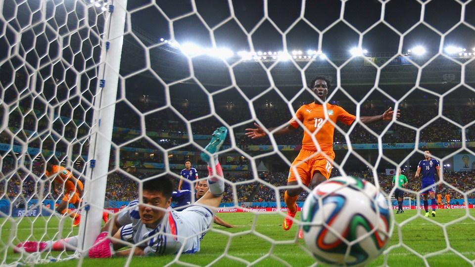 Ryuta Kawashima, portero japonés, ante el gol costamarfileño que decantaba el encuentro. (Foto: flickr.com)