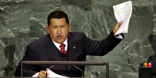 Hugo Chávez durante uno de sus discursos (Foto: elmundo.es)