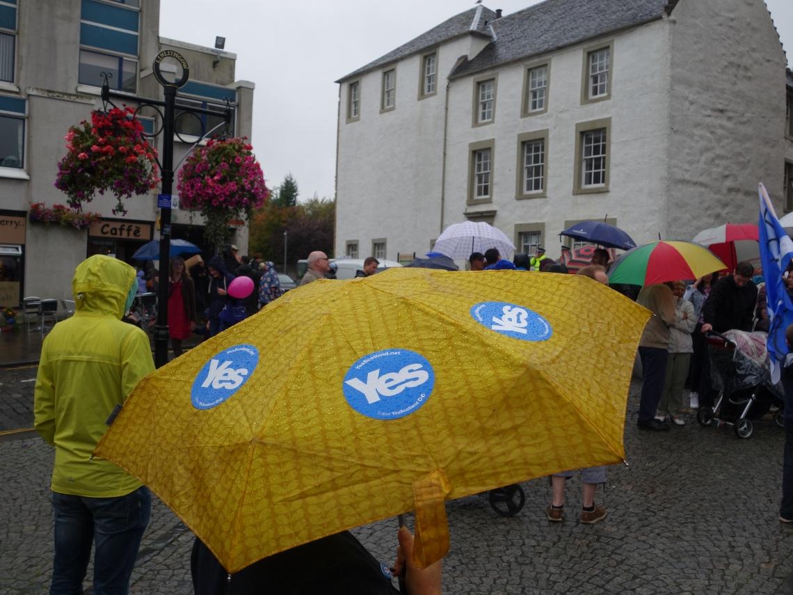 Visita de Alex Salmond a Linlithgow.