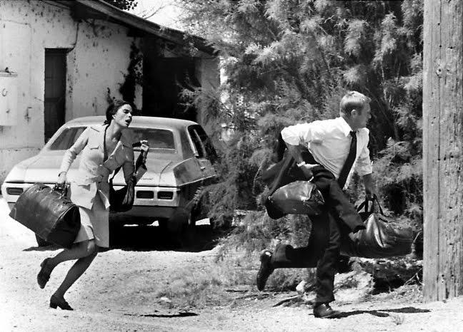 "Imagen de la película ""La huida"" de Sam Peckinpah."