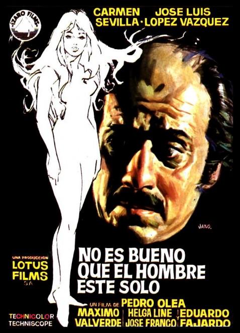 """""""No es bueno que un hombre esté sólo"""" una de las películas más destacadas del destape español"""