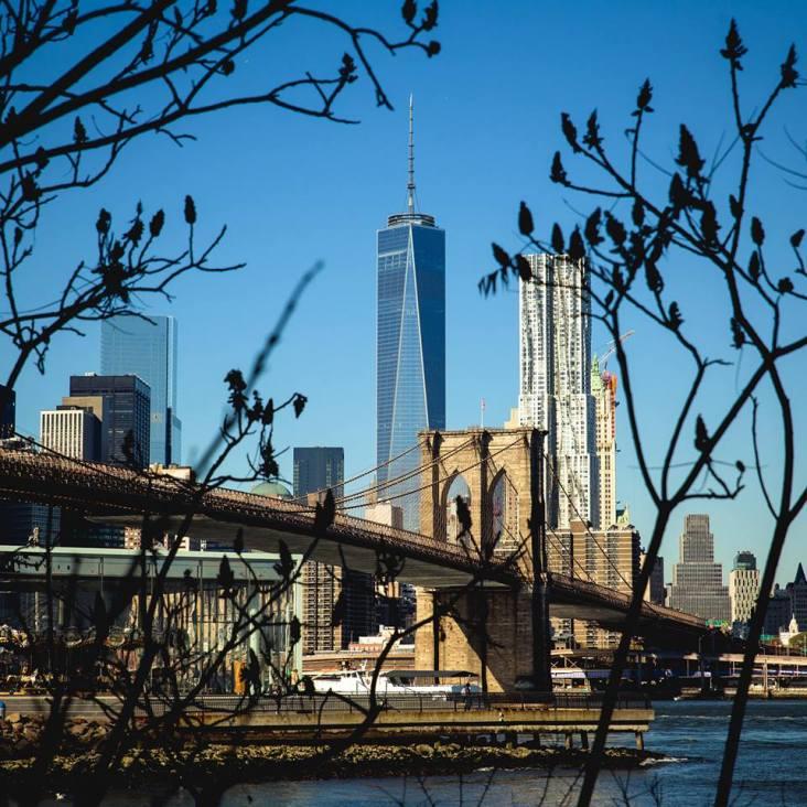 Manhattan y el Brooklyn Bridge por Santi González-Barros