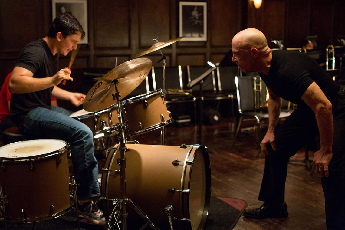 Miles Teller y JK Simmons, en un fotograma de Whiplash. (Foto: Daniel McFadden/Sundance Institute)