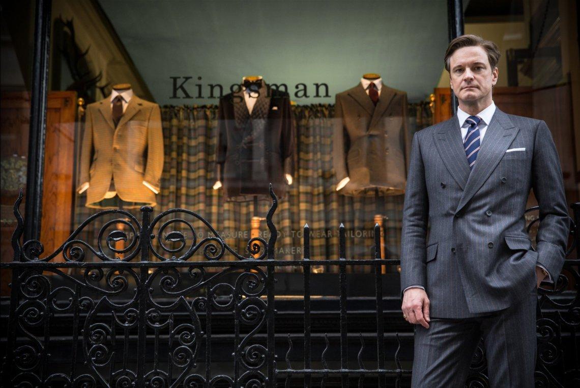 Colin Firth, encarnando a Harry Hart (y Galahad) en Kingsman.