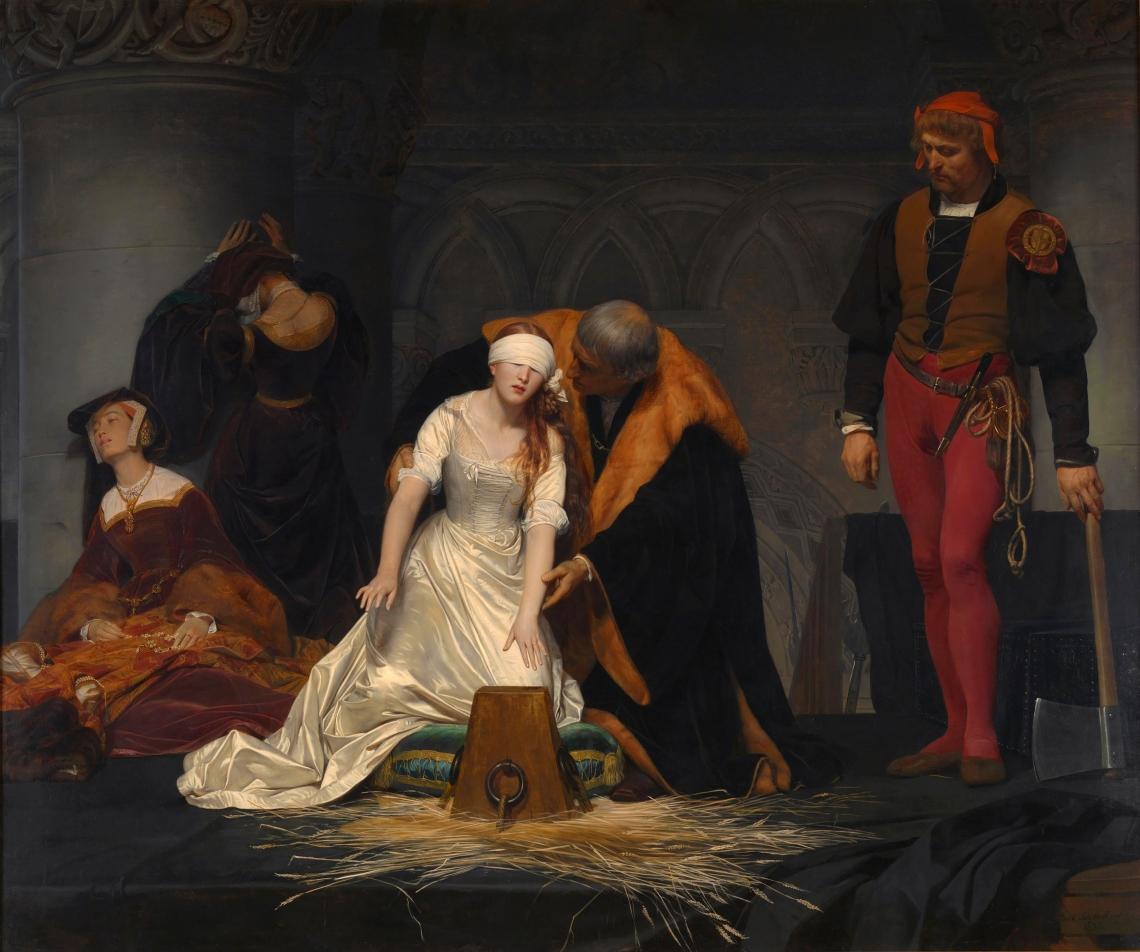 La Ejecución de Lady Jane Gray, por Paul Delaroche (1833).