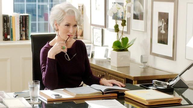Meryl Streep, en El diablo se viste de Prada.