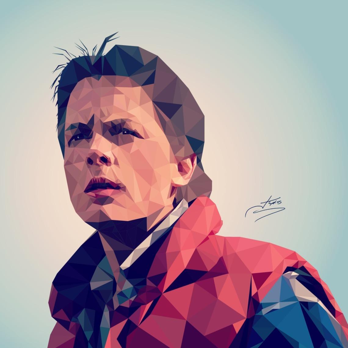 El personaje de ficción Marty McFly, en una ilustración de Jonathan Topliss.